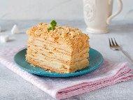 Рецепта Торта Наполеон с готови блатове (кори) и ванилов крем